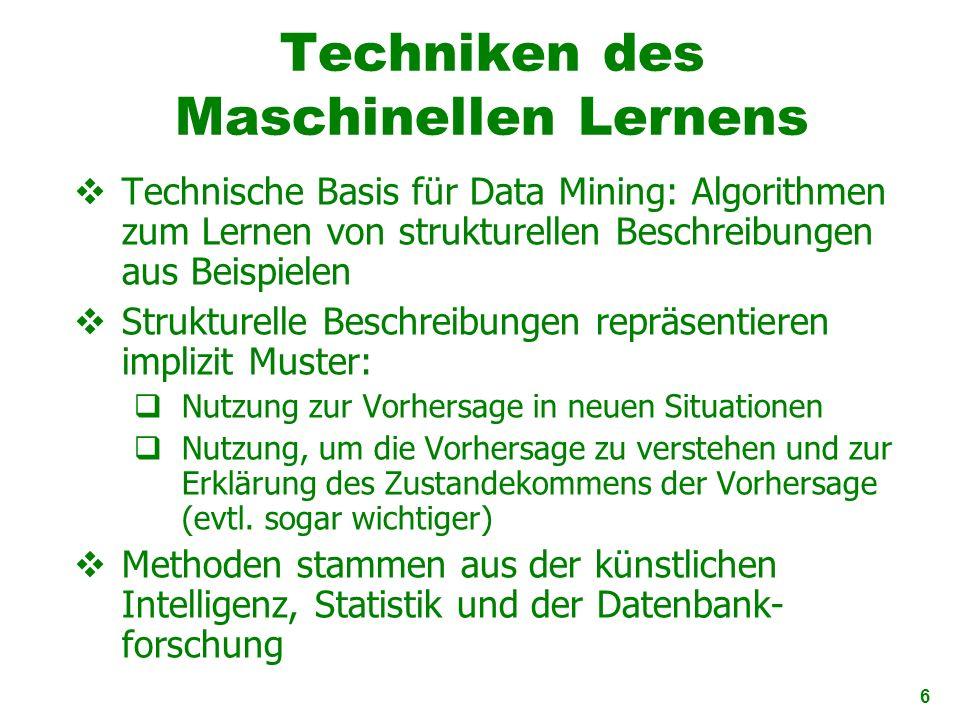 Techniken des Maschinellen Lernens