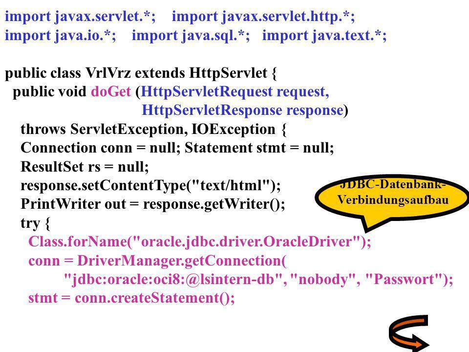 import javax.servlet.*; import javax.servlet.http.*;