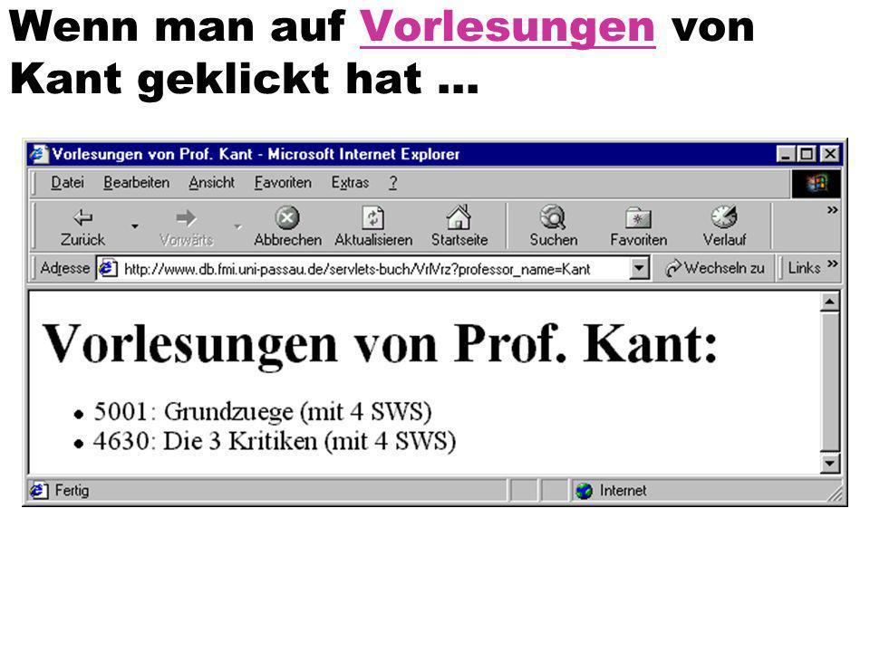Wenn man auf Vorlesungen von Kant geklickt hat ...