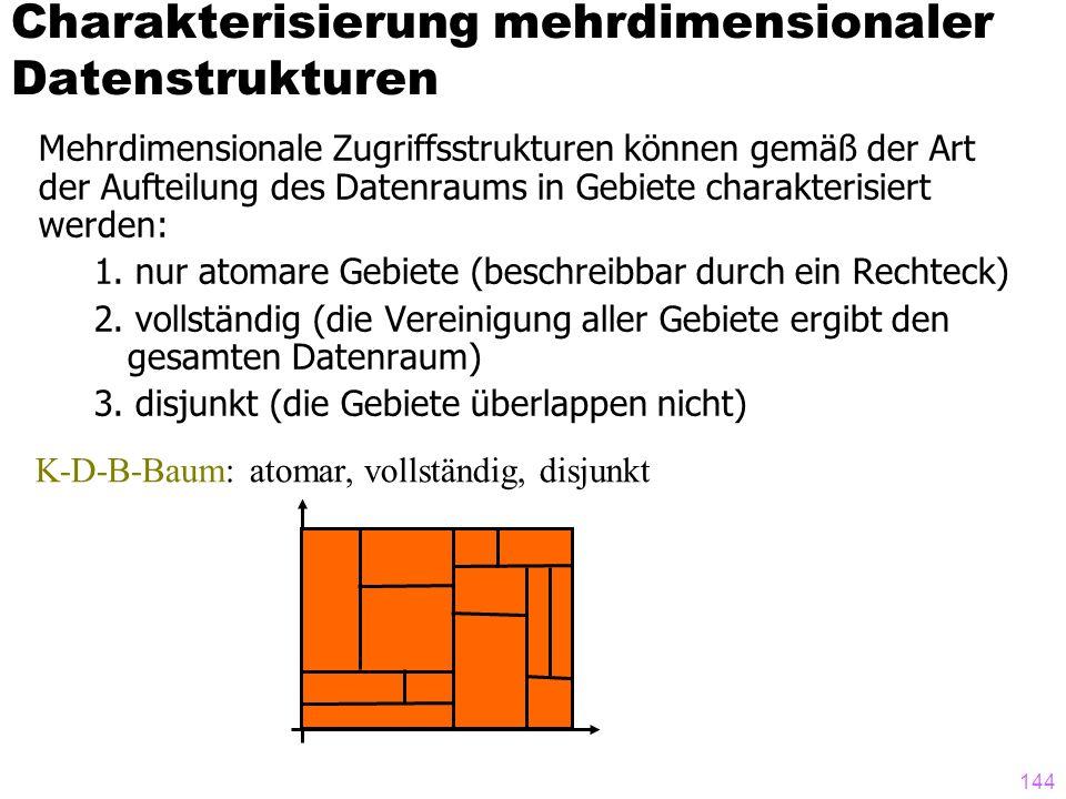 Charakterisierung mehrdimensionaler Datenstrukturen