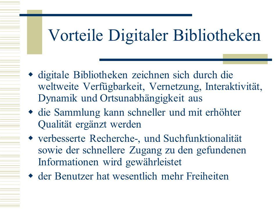 Vorteile Digitaler Bibliotheken