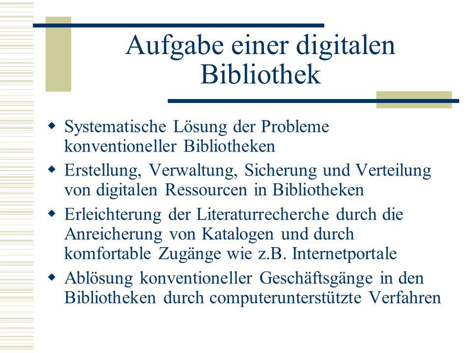 Aufgabe einer digitalen Bibliothek