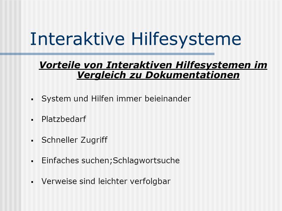 Interaktive Hilfesysteme