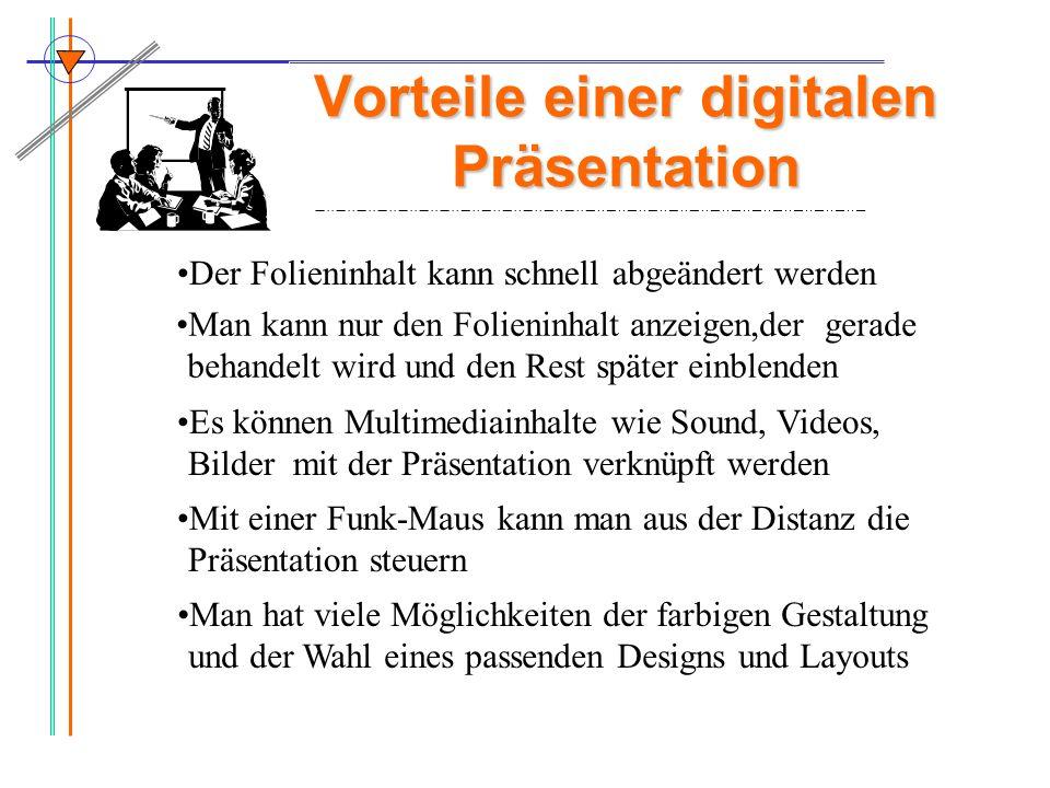 Vorteile einer digitalen Präsentation