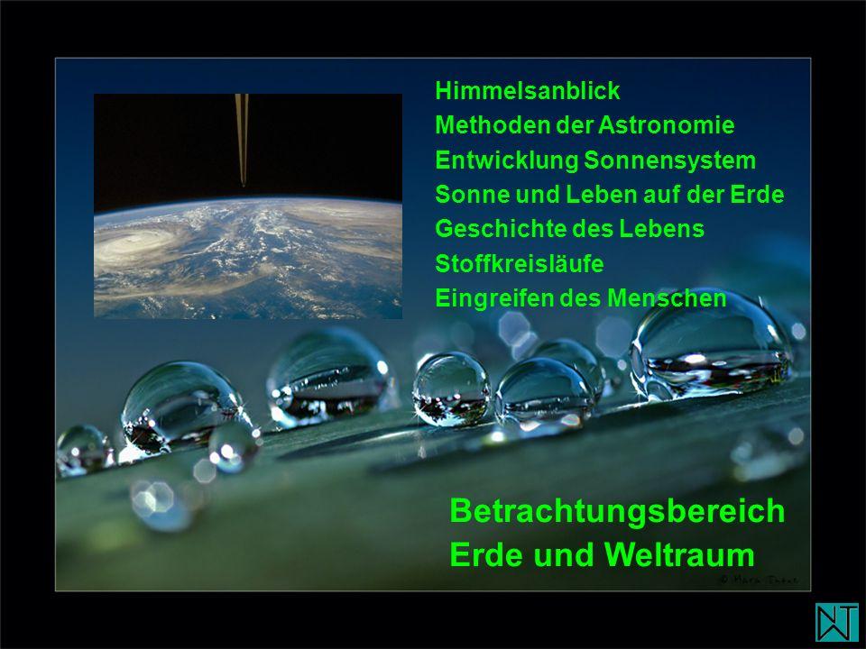 Betrachtungsbereich Erde und Weltraum Himmelsanblick