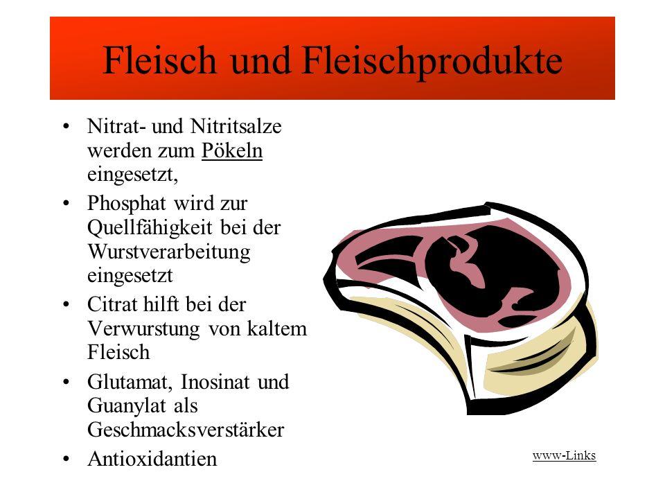 Fleisch und Fleischprodukte