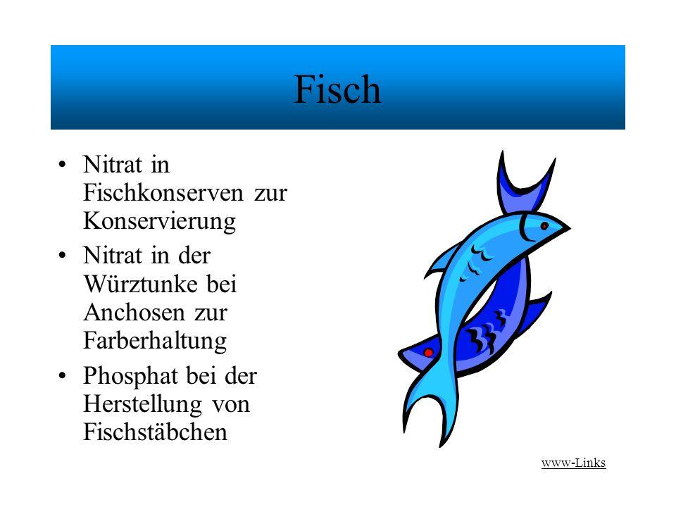 Fisch Nitrat in Fischkonserven zur Konservierung