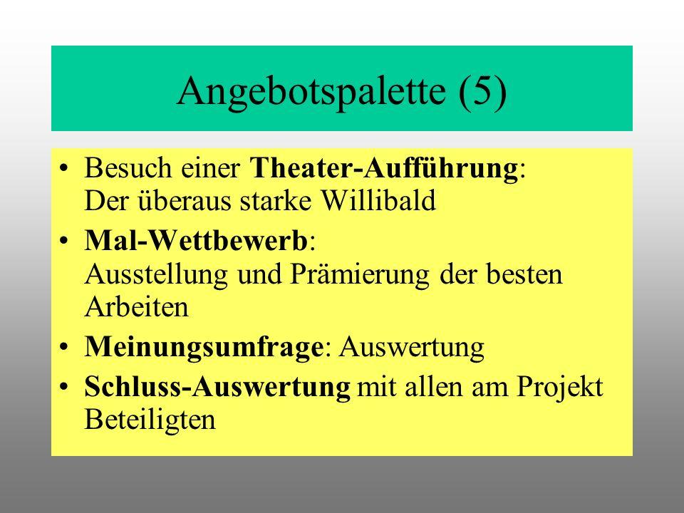 Angebotspalette (5) Besuch einer Theater-Aufführung: Der überaus starke Willibald.