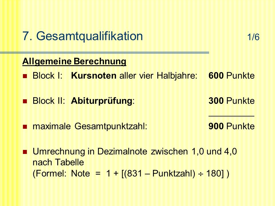 7. Gesamtqualifikation 1/6