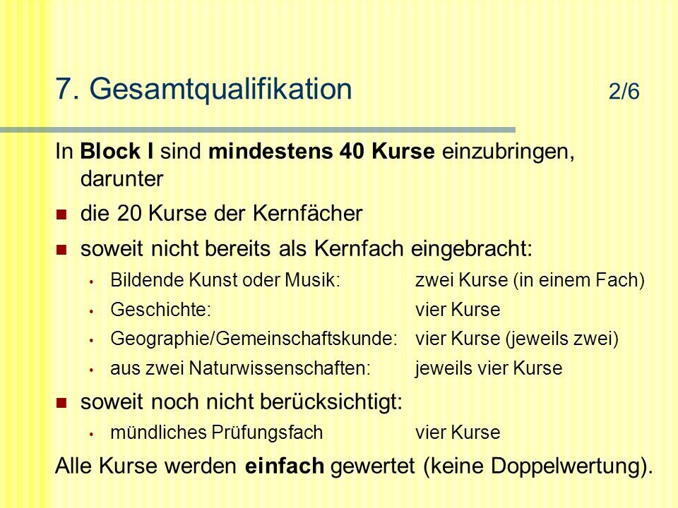 7. Gesamtqualifikation 2/6