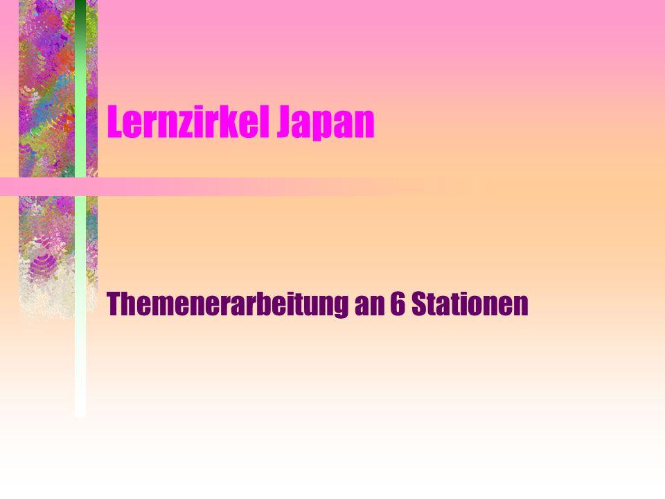 Themenerarbeitung an 6 Stationen