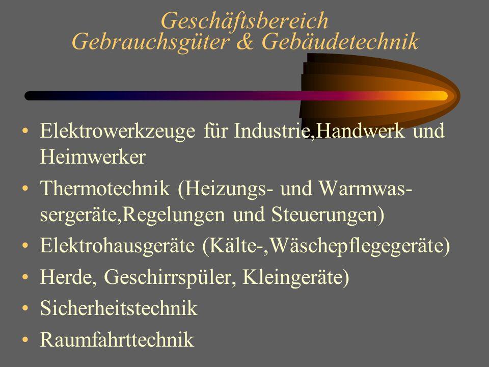 Geschäftsbereich Gebrauchsgüter & Gebäudetechnik
