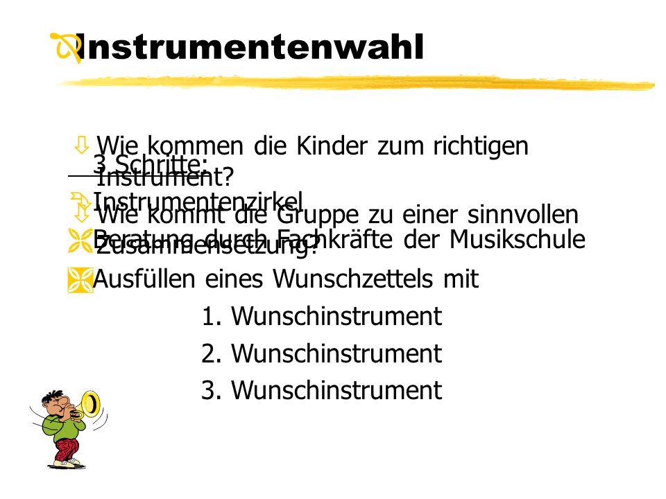 Instrumentenwahl Wie kommen die Kinder zum richtigen Instrument