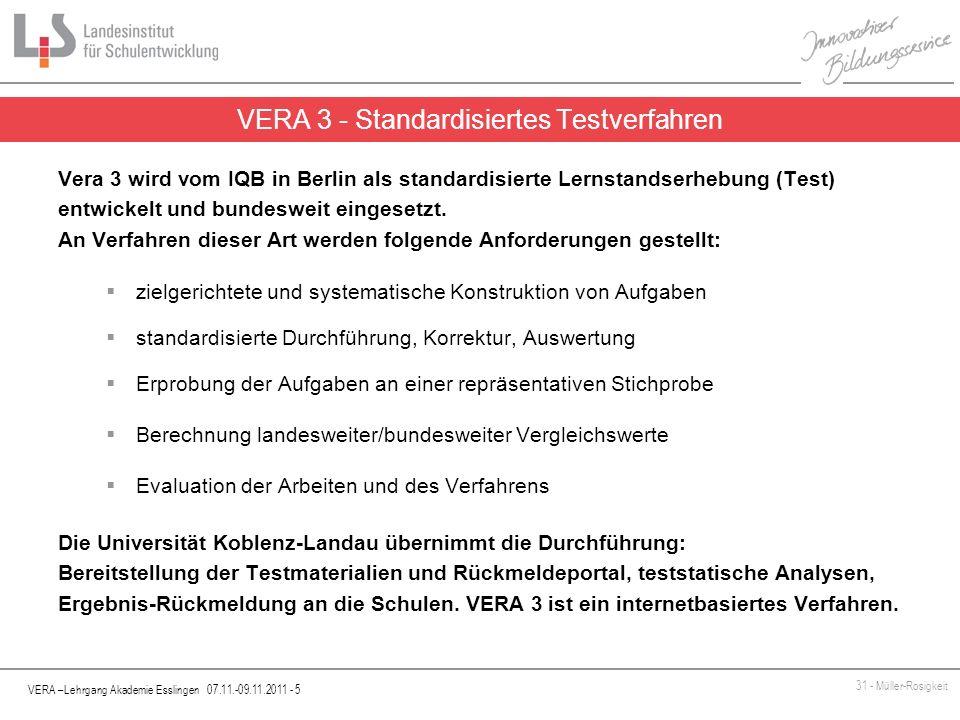 VERA 3 - Standardisiertes Testverfahren