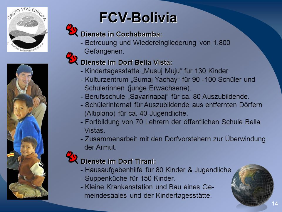 FCV-Bolivia Dienste in Cochabamba: