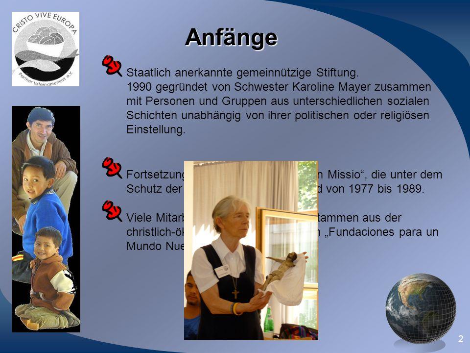Anfänge Staatlich anerkannte gemeinnützige Stiftung.