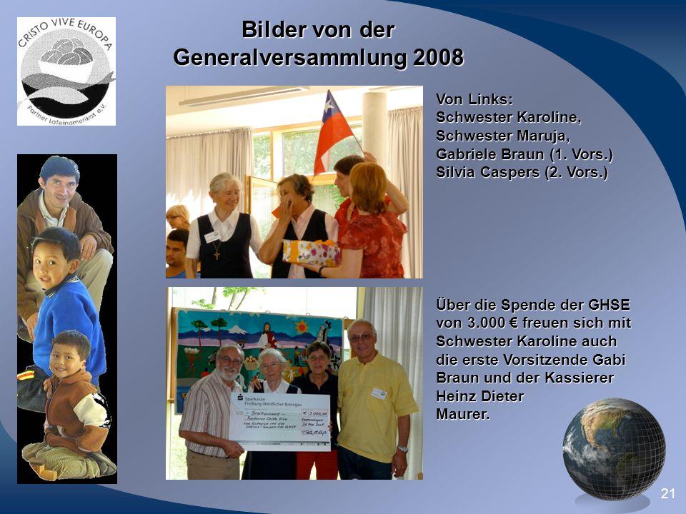 Bilder von der Generalversammlung 2008