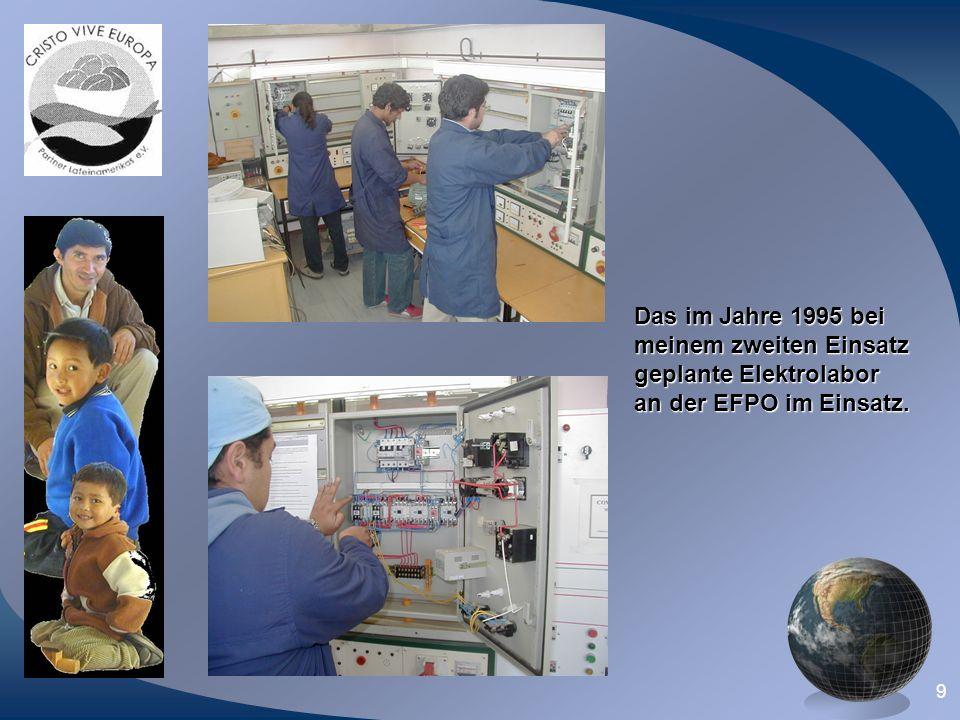 Das im Jahre 1995 bei meinem zweiten Einsatz geplante Elektrolabor an der EFPO im Einsatz.
