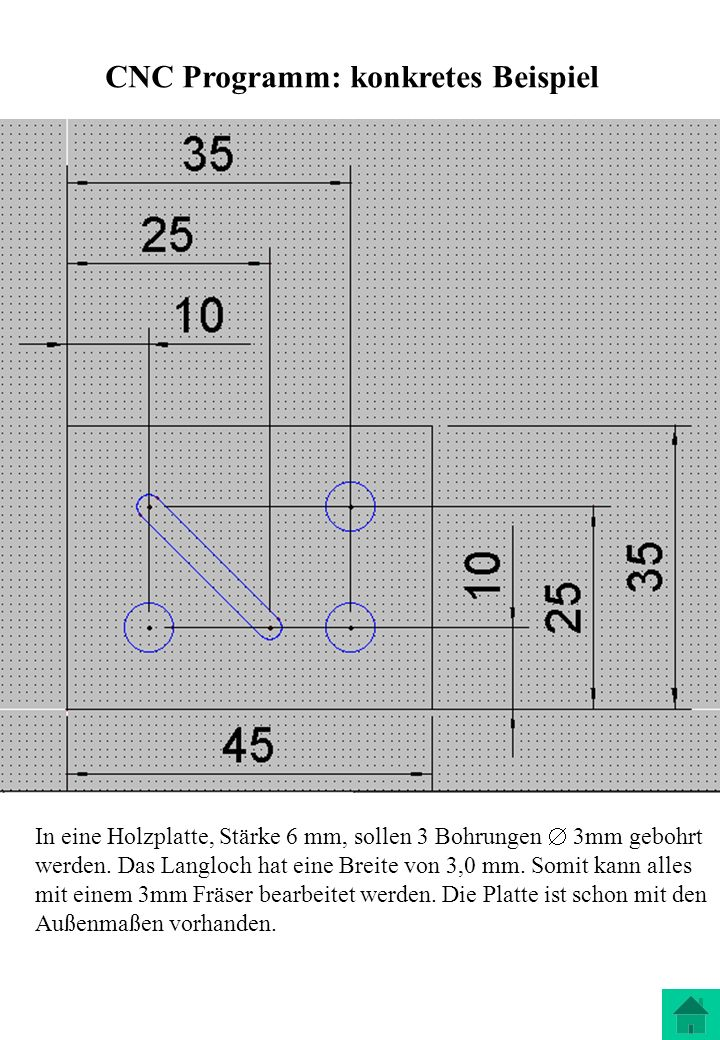 CNC Programm: konkretes Beispiel