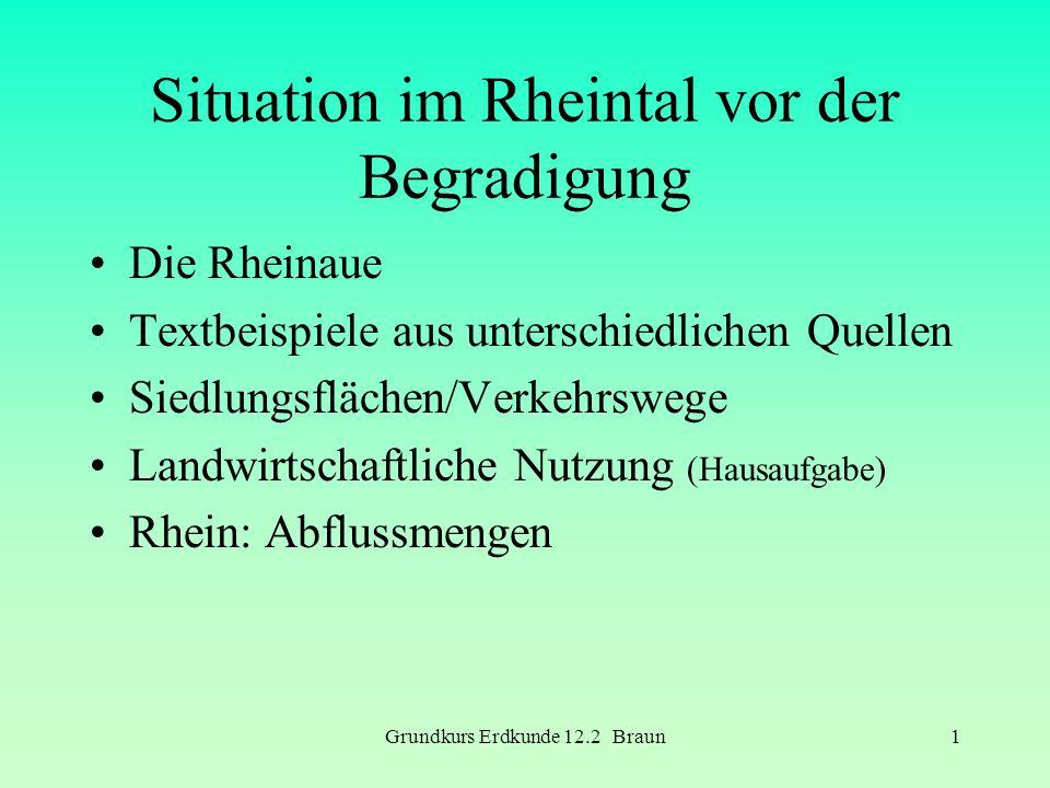 Situation im Rheintal vor der Begradigung