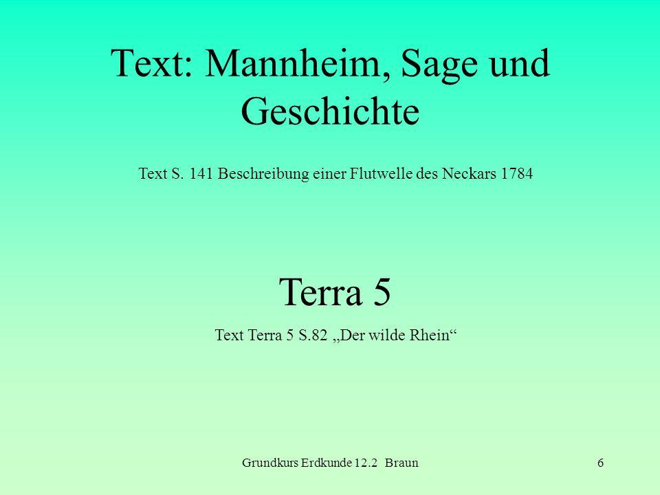 Text: Mannheim, Sage und Geschichte