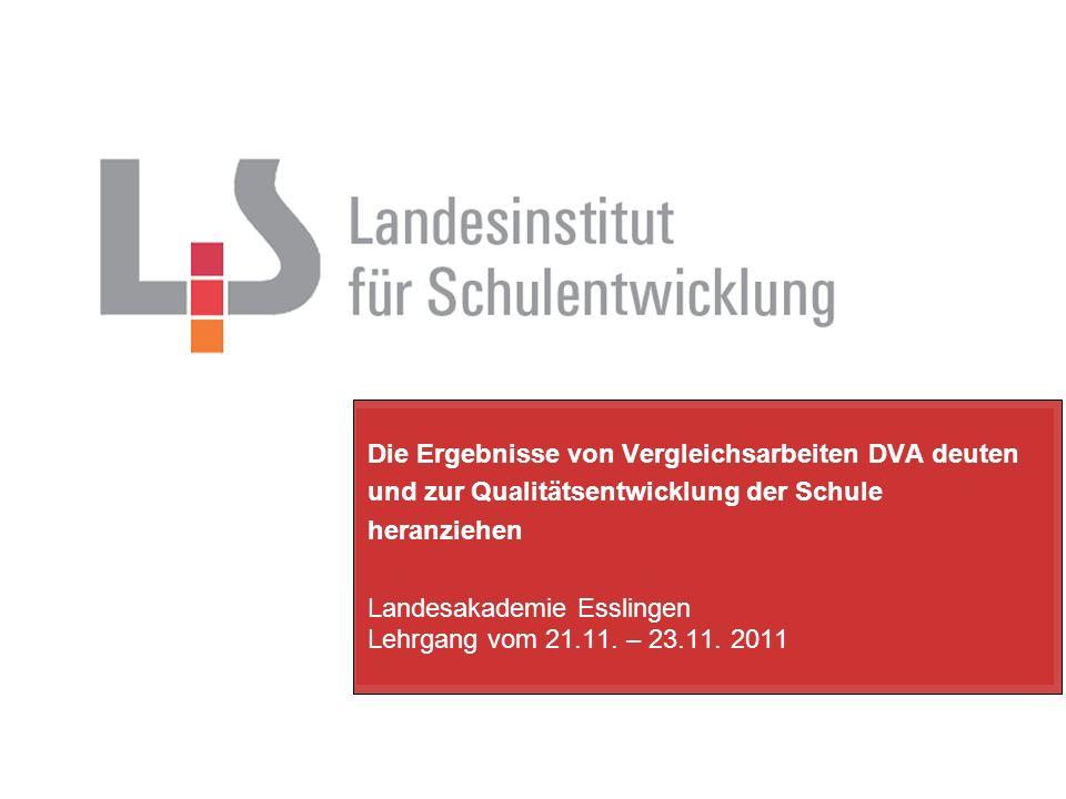 Landesakademie Esslingen Lehrgang vom 21.11. – 23.11. 2011