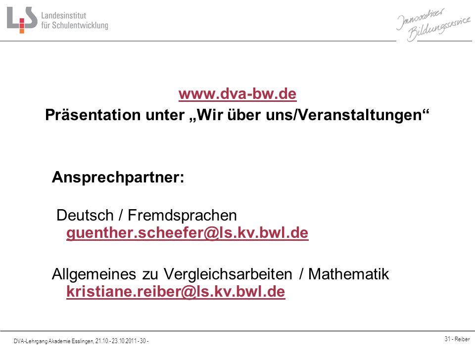 """Präsentation unter """"Wir über uns/Veranstaltungen"""