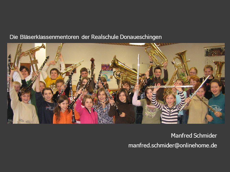 Die Bläserklassenmentoren der Realschule Donaueschingen