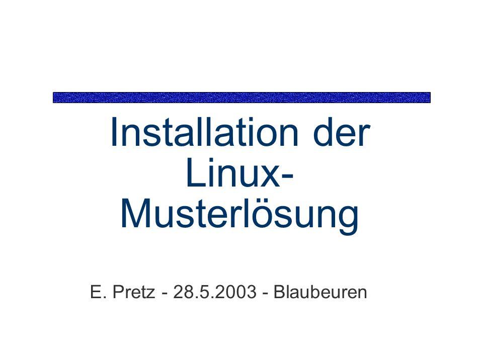 Installation der Linux-Musterlösung