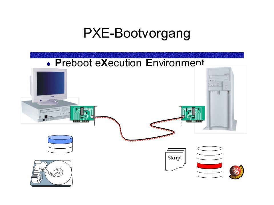 PXE-Bootvorgang Preboot eXecution Environment Skript