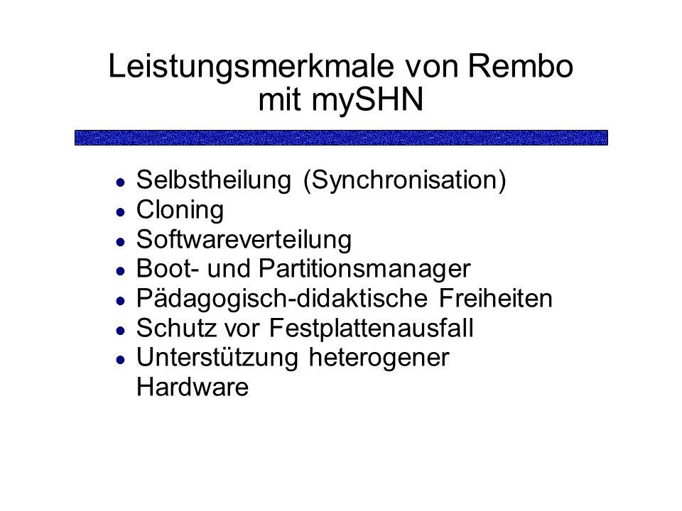 Leistungsmerkmale von Rembo mit mySHN