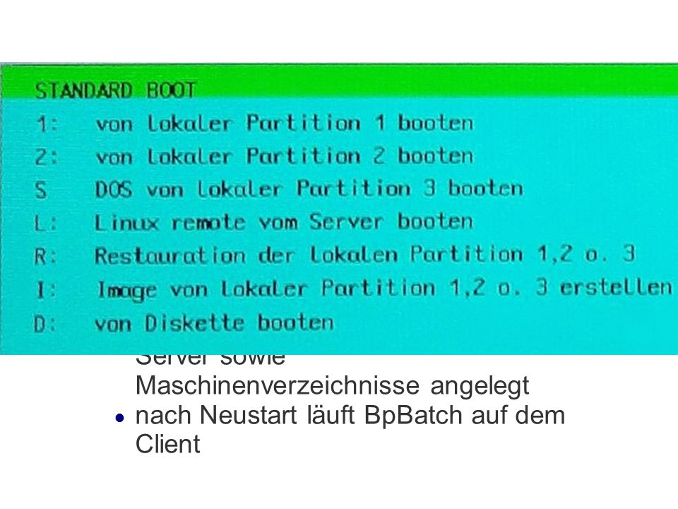 Importskript Aufruf des Skriptes: /var/machines/pxeclient/tmp/pxe/ import_workstations.