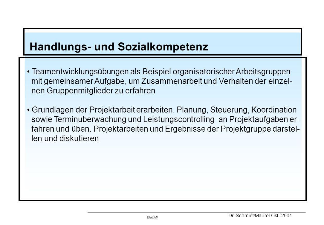 Handlungs- und Sozialkompetenz