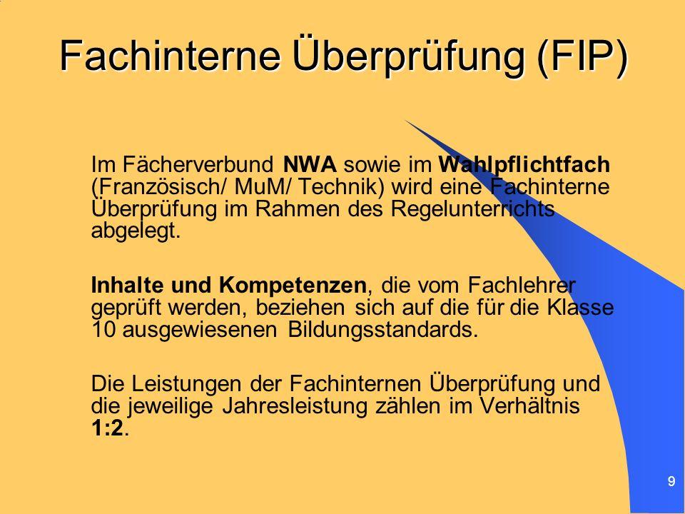 Fachinterne Überprüfung (FIP)