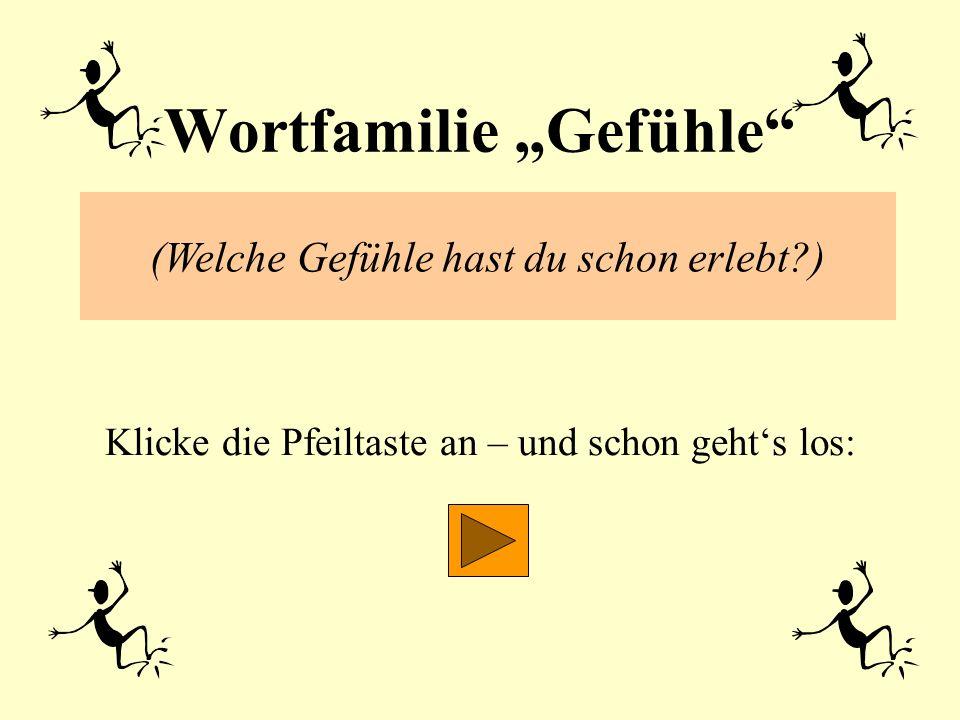 "Wortfamilie ""Gefühle"