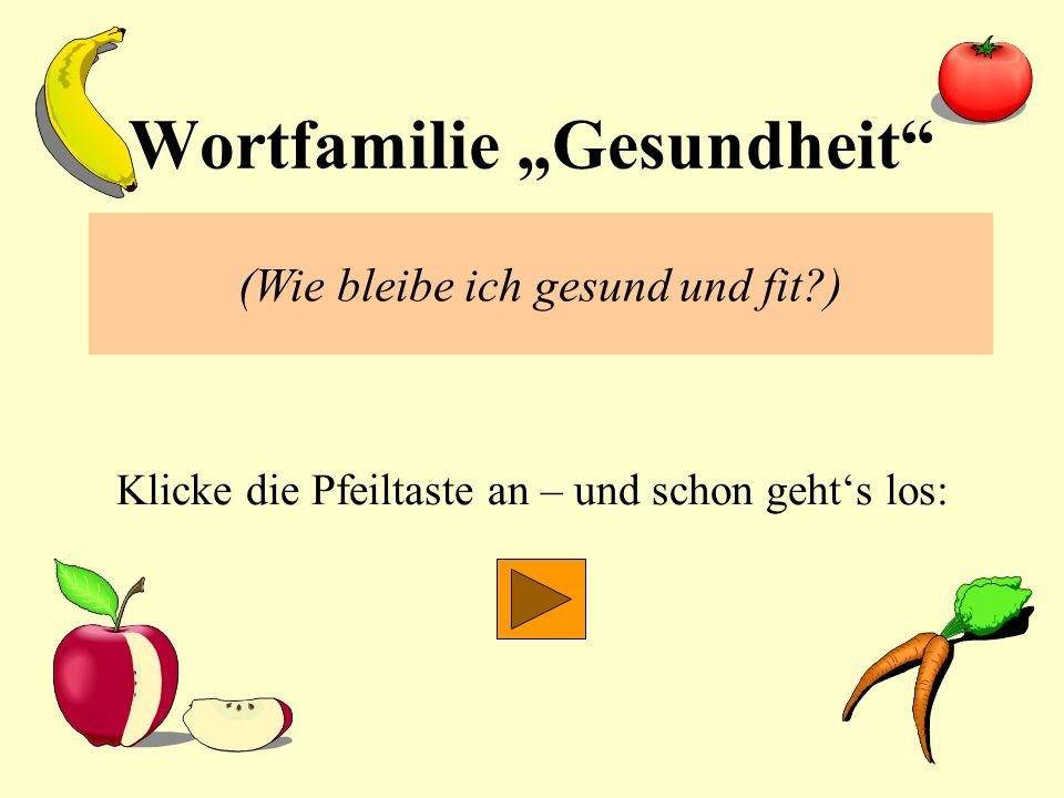 """Wortfamilie """"Gesundheit"""