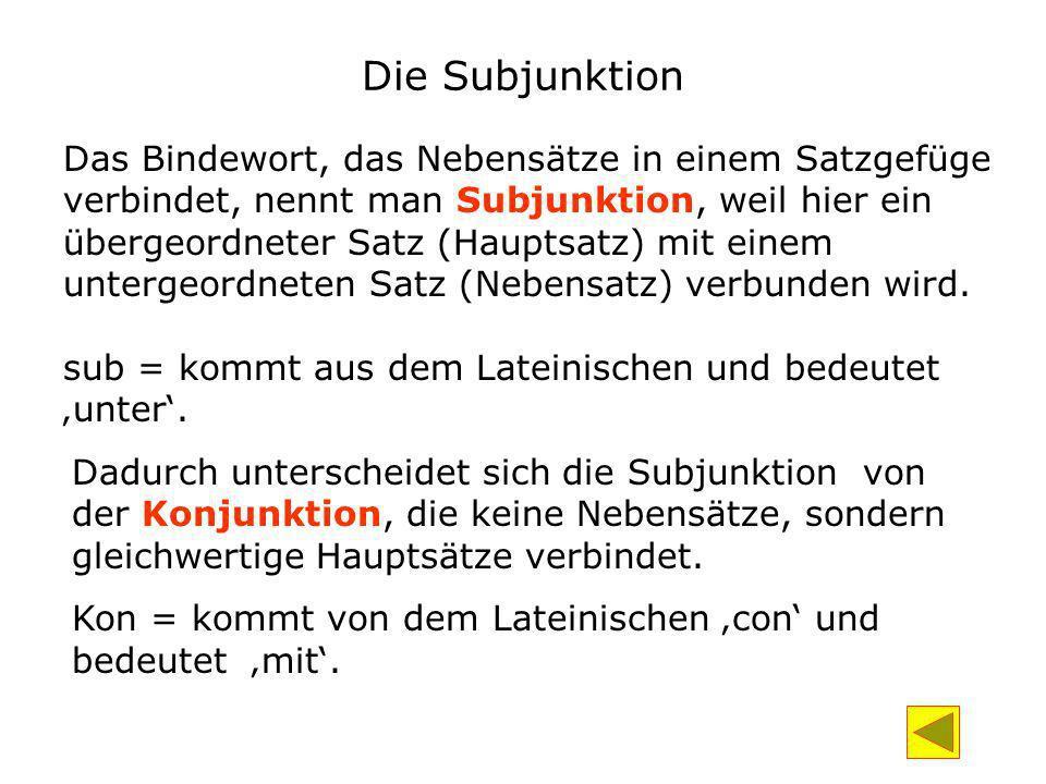 Die Subjunktion