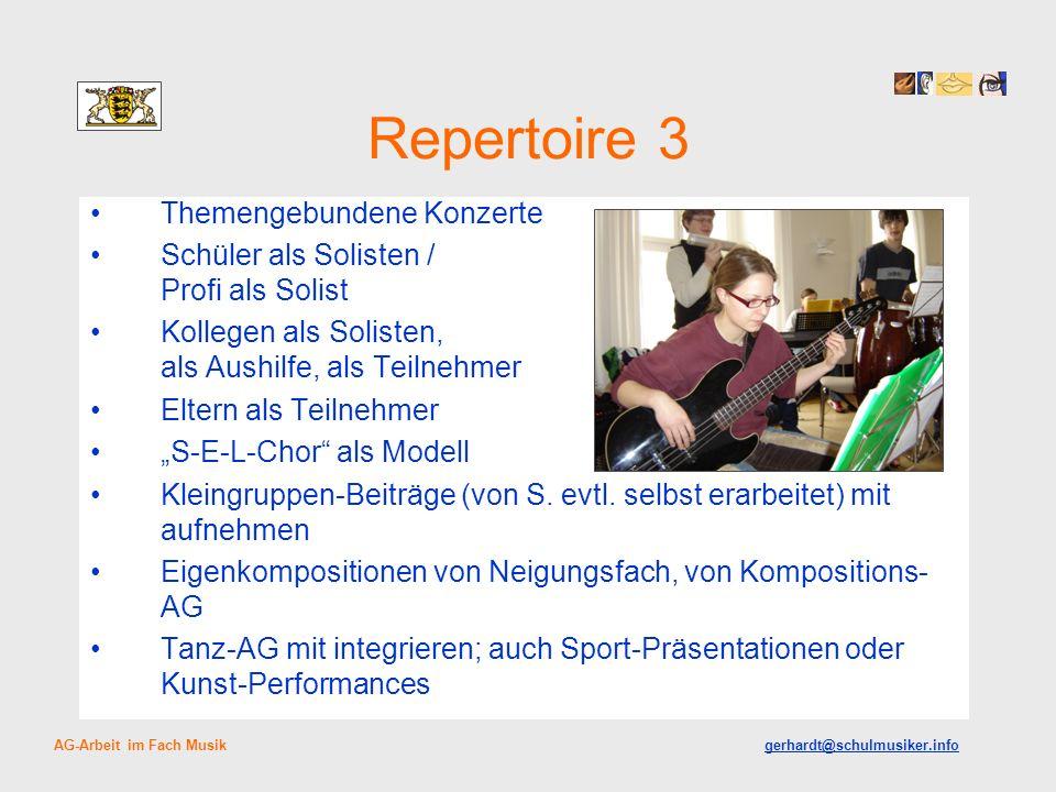 Repertoire 3 Themengebundene Konzerte