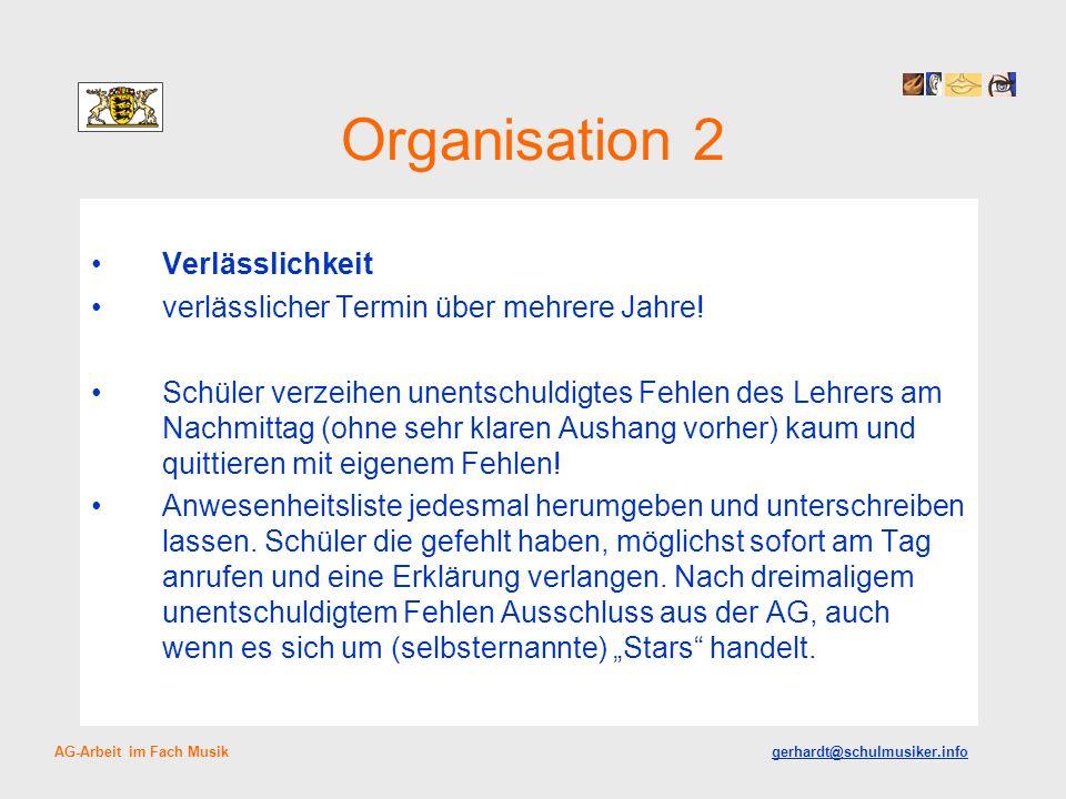Organisation 2 Verlässlichkeit
