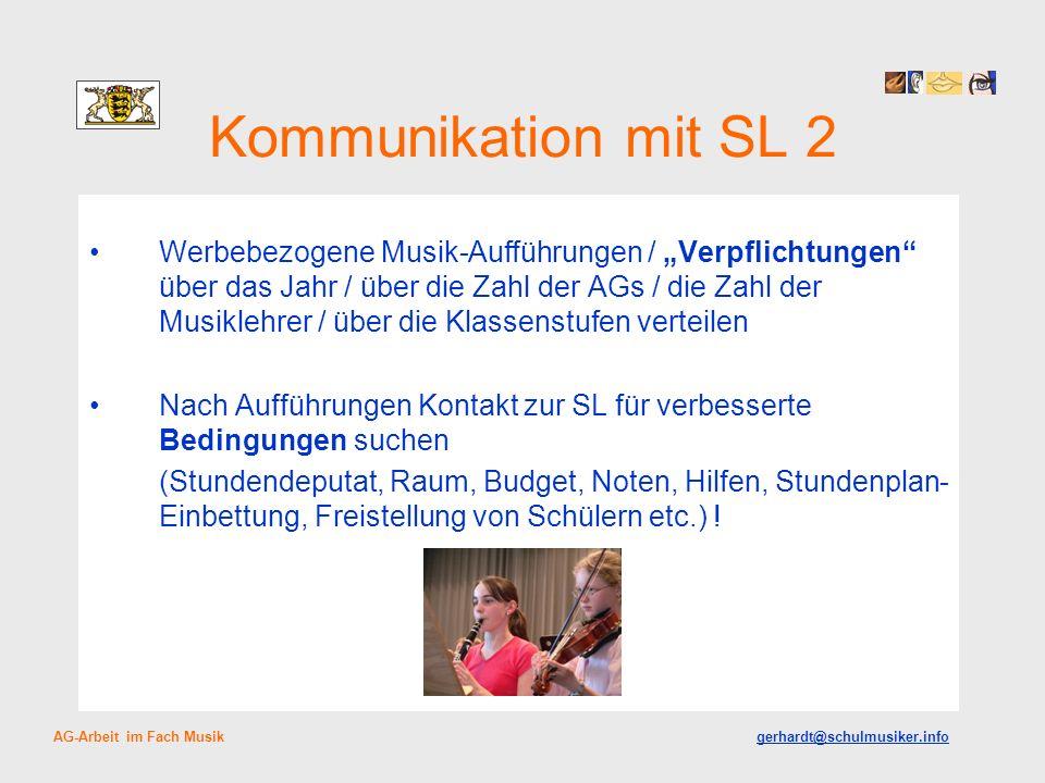 Kommunikation mit SL 2