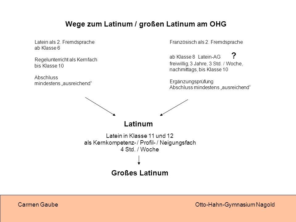 Wege zum Latinum / großen Latinum am OHG