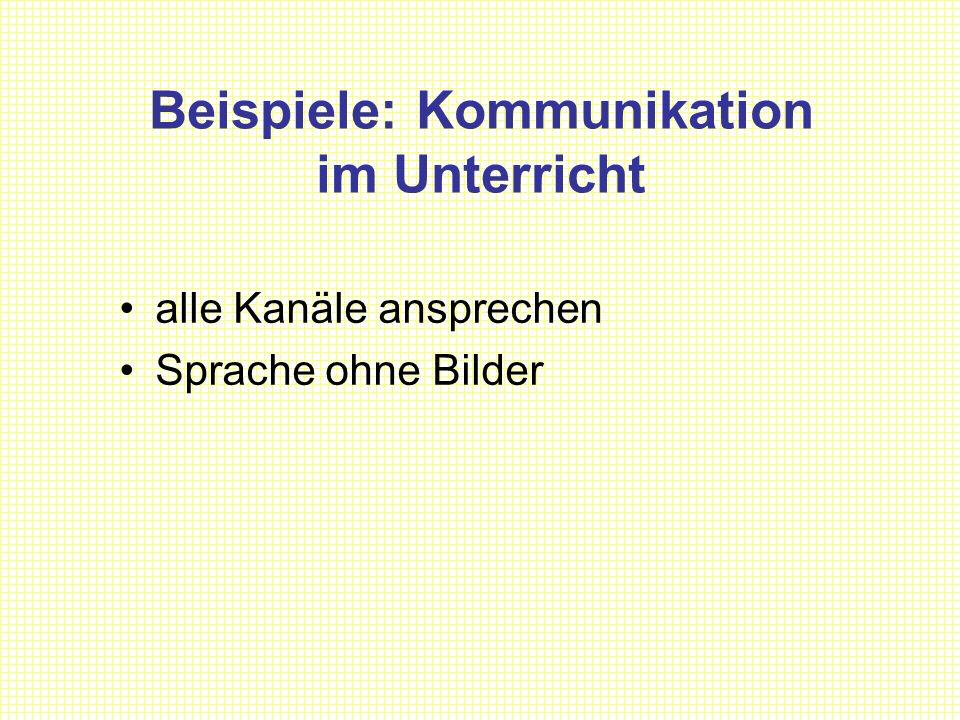Beispiele: Kommunikation im Unterricht