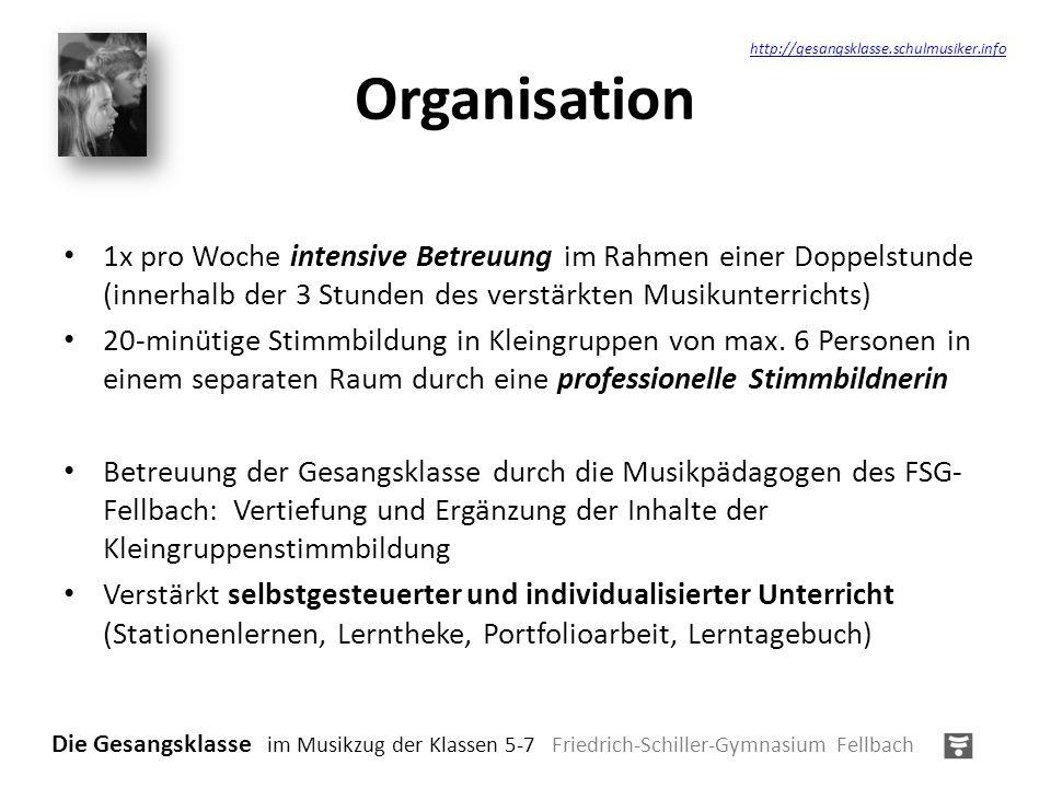 Organisation http://gesangsklasse.schulmusiker.info.