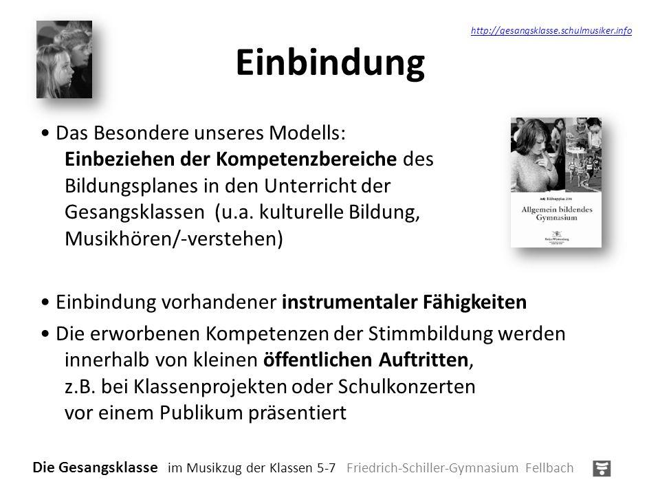 Einbindung http://gesangsklasse.schulmusiker.info.