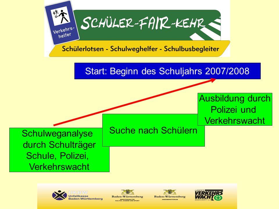 Start: Beginn des Schuljahrs 2007/2008