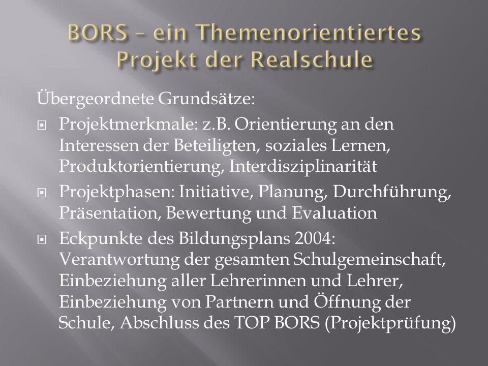 BORS – ein Themenorientiertes Projekt der Realschule