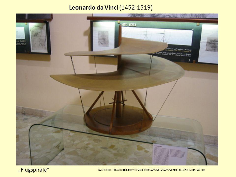 """Leonardo da Vinci (1452-1519) """"Flugspirale"""