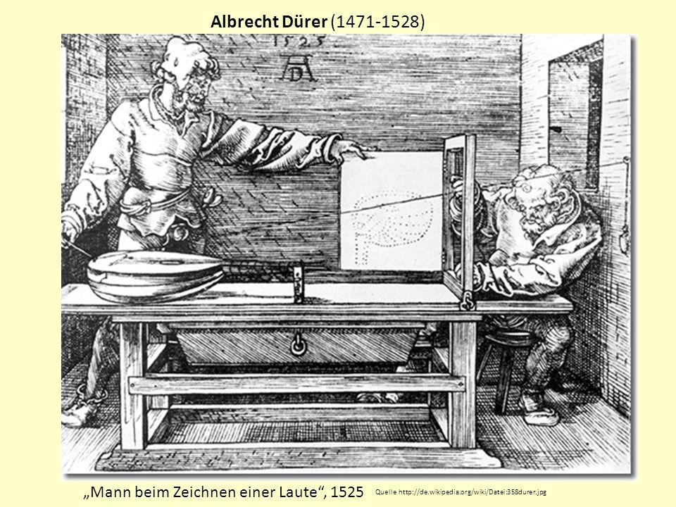 """Albrecht Dürer (1471-1528) """"Mann beim Zeichnen einer Laute , 1525"""