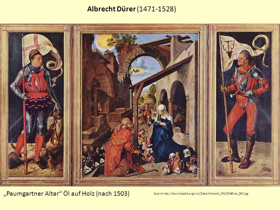"""Albrecht Dürer (1471-1528) """"Paumgartner Altar Öl auf Holz (nach 1503)"""