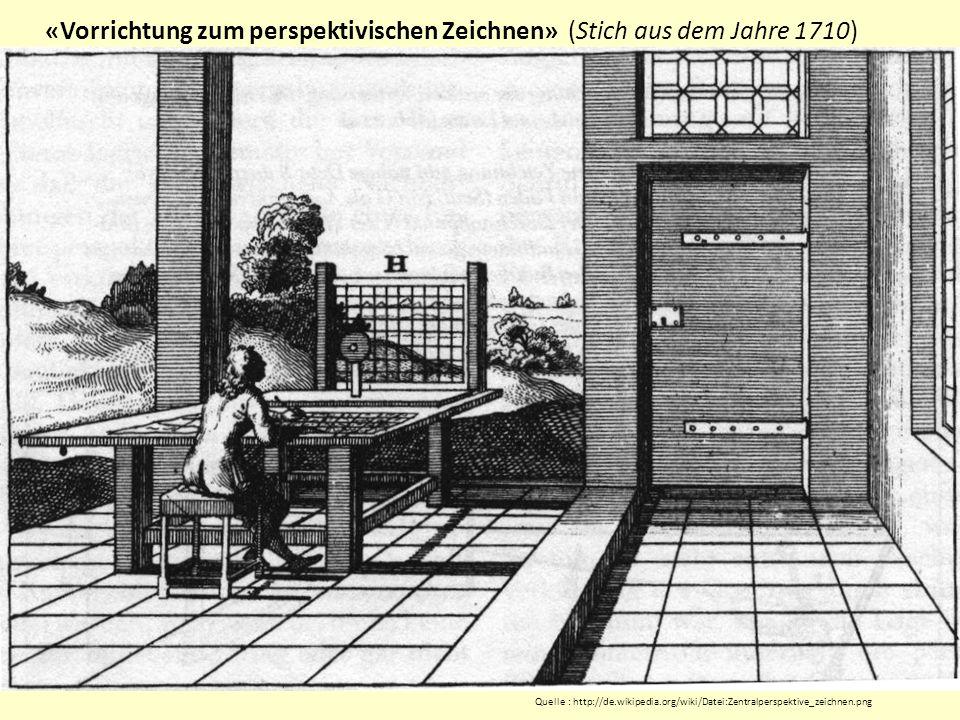 «Vorrichtung zum perspektivischen Zeichnen» (Stich aus dem Jahre 1710)